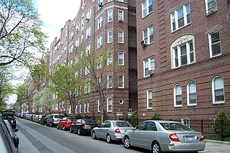 Jackson Heights, Queens - Residential street in Jackson Heights