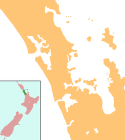 Point England is located in New Zealand Auckland
