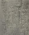 Nahr al-Kalb Sixth Assyrian inscription (Esarhaddon) detail 1922.png