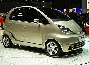 English: Tata Nano Europa displayed at Geneva ...