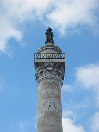Column of the Grande Armée - The top of the Column of the Grande Armée today