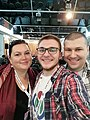 Natasa Nedanoska, Miljan Simonovic, and Filip Maljkovic, Wikimedia CEE Meeting 2019 05.jpg