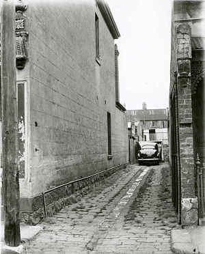 Neil Harvey - The laneway next to the family home in Fitzroy where the Harvey brothers learned to play cricket.