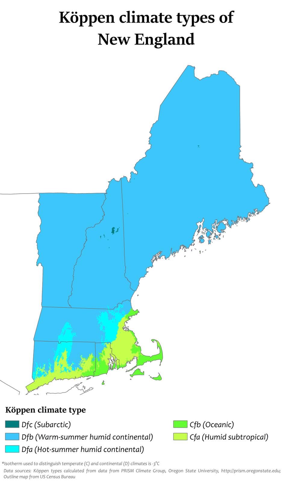 New England Köppen