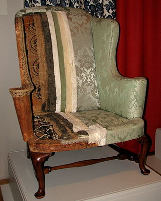 Upholstery - A New England easy chair at the Winterthur Museum and Country Estate in Delaware