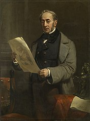 Portrait of Jacob de Vos Jacobszoon (1803-1878). Amsterdam Art Collector and Owner of the Historical Gallery De Vos