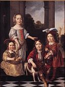 Nicolaes Maes - Portrait of Four Children - WGA13813.jpg