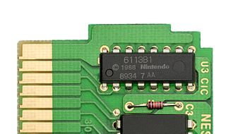 CIC (Nintendo) - The CIC chip from a Tetris cartridge