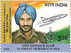 Nirmal Jit Singh Sekhon 2000 stamp of India.jpg