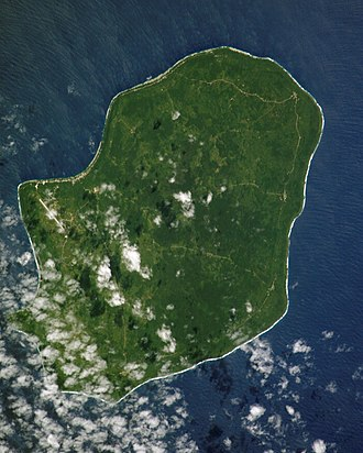 Niue - Satellite image of Niue in the Pacific Ocean