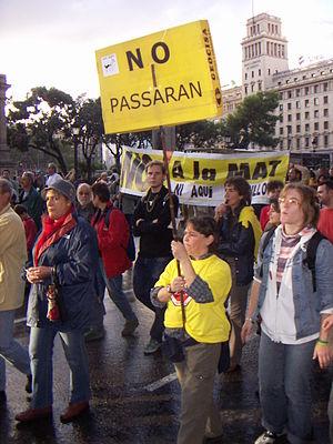 Manifestació No a la MAT (La Jonquera)