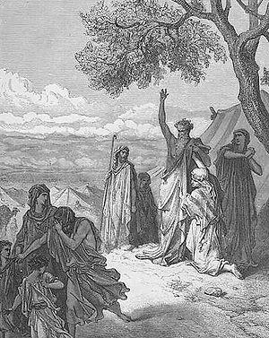 Noah - Noah curses Ham by Gustave Dore