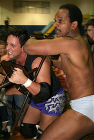 Billy Kidman - Kidman wrestling against Norman Smiley in ICW
