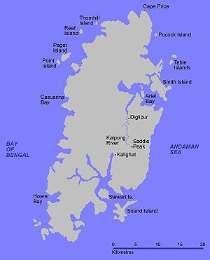North Andaman Island - Map of North Andaman Island