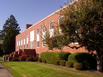 Linfield College - T.J. Day Hall (formerly Northup Hall), built in 1936, was the library through 2003.