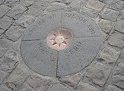The stone marking point zéro
