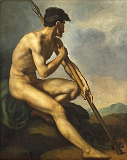 Nude Warrior with a Spear SC-001176