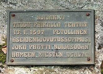 Cudgel War - A memorial plaque dedicated to the fallen peasants