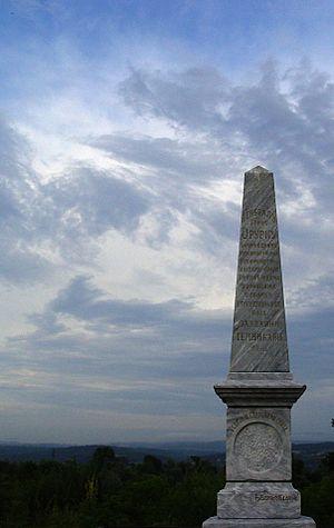 Joseph Cornelius O'Rourke - Monument to O'Rourke in Varvarin, Serbia