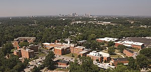Ohio Dominican University - Image: ODU and Downtown Columbus