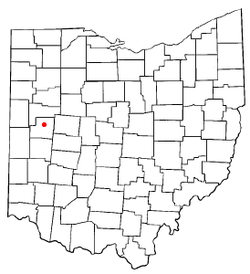 Location of Anna, Ohio