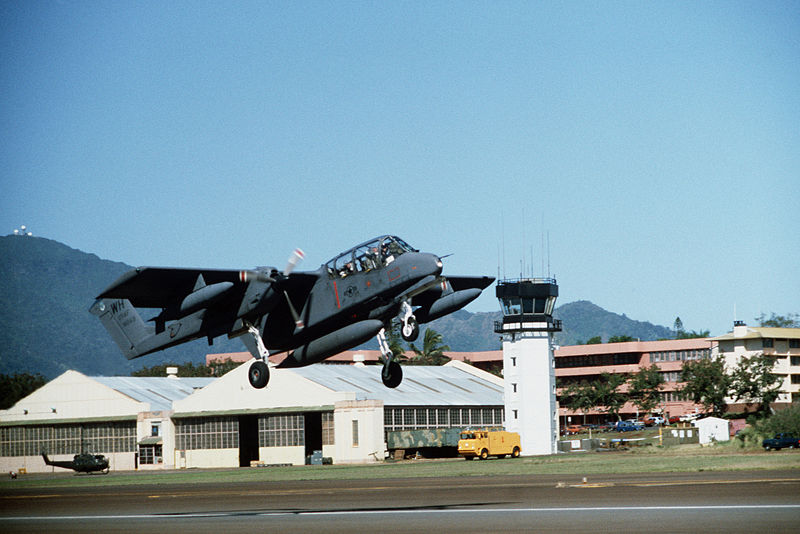 File:OV-10A 22nd TASS taking off from Wheeler AFB 1984.JPEG