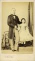 O 1.º Barão de Nossa Senhora da Saúde e a neta Maria José de Sousa Medeiros e Canto (c. 1860s) - Alfred Fillon.png