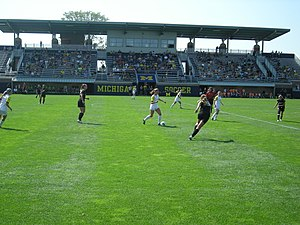 Michigan Wolverines women's soccer - The 2013 Michigan women's soccer team in action against Oakland University