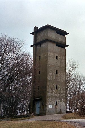 Fort Foster (Kittery, Maine) - The observation and fire control tower for Battery 205 at Fort Foster.