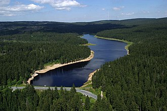 South Lower Saxony - Lake in the Harz mountains, part of UNESCO World Heritage Site, the Upper Harz Water Regale