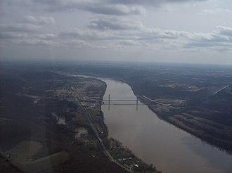 Aberdeen, Ohio - Image: Ohio River below Aberdeen and Maysville