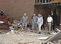 Oklahoma Gov. Mary Fallin, center right, leads U.S. Army Gen. Frank Grass, center left, the chief of the National Guard Bureau, through the Plaza Towers Elementary School in Moore, Okla., May 28, 2013 130528-Z-VF620-4659.jpg