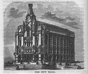 Columbus, Ohio - Old City Hall, completed in 1872 and burned in 1921