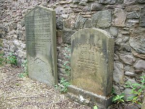 History of the Jews in Scotland - The old Jewish burial ground in Edinburgh dates from 1813