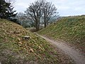 Old Sarum, footpath through the earthworks - geograph.org.uk - 1189830.jpg