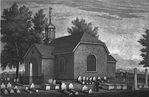 Holy Trinity Church (Old Swedes) - Image: Old Swedes Church engraving by John Sartain