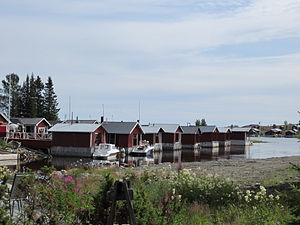 Luleå archipelago - Image: Old fishing huts at Brändöskär