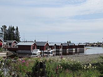 Luleå archipelago - Image: Old fishing huts at Brändöskär