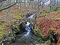 Old stone bridge over the Allt Shuas in Fin Glen - geograph.org.uk - 679790.jpg