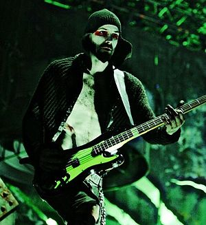 Oliver Riedel - Riedel during a performance with Rammstein