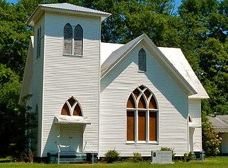 Omaha, Georgia - Image: Omaha Baptist Church (c. 1914) (Omaha, GA)