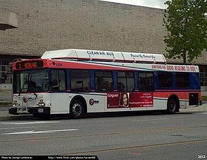 Omnitrans - An Omnitrans bus at the 4th Street Transfer Center in San Bernardino, CA