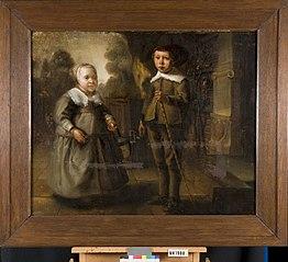 Portret van twee kinderen van de familie de Potter.