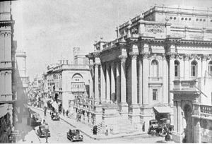 Royal Opera House, Valletta - The Opera House in 1935.