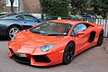 Orange Lamborghini Aventador (6862035562).jpg