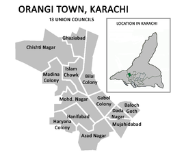Union councils of Orangi Town