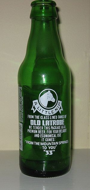 Rolling Rock - Rolling Rock bottle with original quality pledge