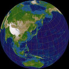 Schiefe Projektion der Erde