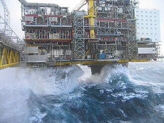 Keulegan–Carpenter number - Image: Oseberg A Waves I
