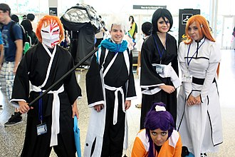 Bleach (manga) - Fans dressed as characters from Bleach, pictured in 2014.